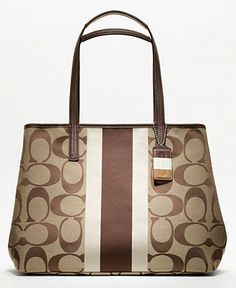 COACH HAMPTONS WEEKEND SIGNATURE STRIPE LARGE TOTE - Hamptons Weekend Collection - COACH - Macy's