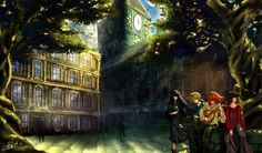 Kvothe and friends by ~Lunnarisaku (Kingkiller Chronicle fan? Visit eoliantavern.com)