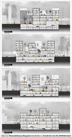 Amphitheater Architecture, Condominium Architecture, Plans Architecture, Architecture Panel, Architecture Graphics, Concept Architecture, Architecture Details, Sections Architecture, Drawing Architecture