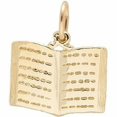 Rembrandt Charms Book Charm, Gold Plated Silver Rembrandt Charms. $31.50