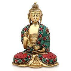 Buddha Statue Tibet Bronze Tibetan Old Buddhism Chinese Sakyamuni Carved hand
