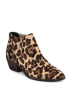 Joie - Barlow Leopard-Print Calf Hair Booties - i like this but COLORFUL