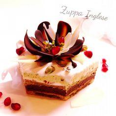 バレンタイン♪ピスタチオとチョコレートのケーキ