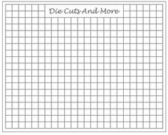 FREE Printable (metric) Grid Paper for the Stampoholic NANO Stamping Tool