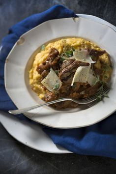 For the most comforting serve the with and Creamy Polenta, Quick Easy Dinner, Dinners, Meals, Parmesan, Lamb, Roast, Lunch Box, Pork