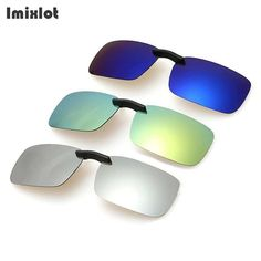 0e5a0d41c5a UVLAIK Mirror Sunglasses Men Polarized Lens Sunglass Night Vision Goggles  Sun Glasses Flip Up Clip On Myopia Eyewear.