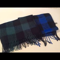 2 For 1 Scarf Bundle Forest Green & Blue Scarf