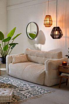 Urban Outfitters Home Matilda Floor Sofa ☁️ Teen Room Ideas Bedroom Couch, Room Ideas Bedroom, Bedroom Decor, Small Couch In Bedroom, Small Couches Living Room, Sofa Bed, Couches For Small Spaces, Small Sofa, Small Space Couch