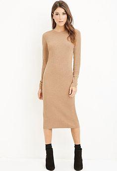 Ribbed Knit Midi Dress | Forever 21 - 2000141962