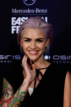 Which Iconic Ruby Rose Hairstyle Should You Try? You got: Ruby's purple bob - - - - - - - You're never afraid to make a statement, and when it comes to your style - the brighter the better. Hair Color And Cut, Haircut And Color, Cut My Hair, Hair Cuts, Ruby Rose Style, Ruby Rose Hair, Short Hair Undercut, Undercut Hairstyles, Purple Bob