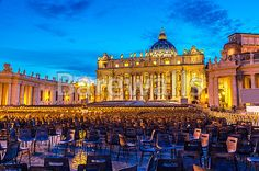 """Vatican at night - Basilica of Saint Peter in Vatican at summer night"" - Rome posters and prints available at Barewalls.com"
