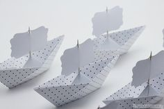 12 Paper Boat Name Place Cards Wedding Reception by NANAZOOLAN, $18.75