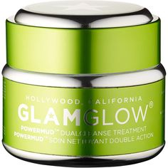 GLAMGLOW POWERMUD™ Dualcleanse Treatment (£48) ❤ liked on Polyvore featuring beauty products, skincare, face care, beauty, makeup and paraben free skin care