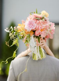 Bright, lush blooms: http://www.stylemepretty.com/2014/12/30/romantic-red-hook-brooklyn-wedding/ | Photography: Rebecca Yale - http://www.rebeccayaleportraits.com/