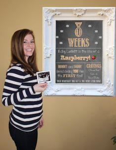 Personalized Weekly Pregnancy Chalkboards Weeks by MMasonDesigns, $100.00