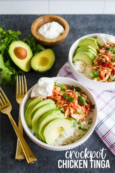 Crockpot Chicken Tinga is a shredded chicken with a spicy sauce. This recipe will fill you up and feed a crowd. It's easy, delicious and healthy!