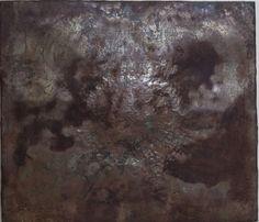 """Damiano Quaranta """" Convessità' di centro""""  cm 93  x 107   metallo ossidato e sbalzato"""