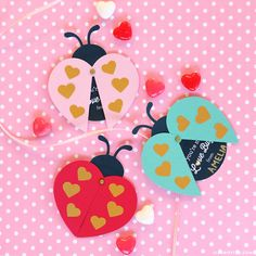 Spend an afternoon crafting adorable ladybug valentines with your little ones. Use these printable kid's valentines for every student in the class!