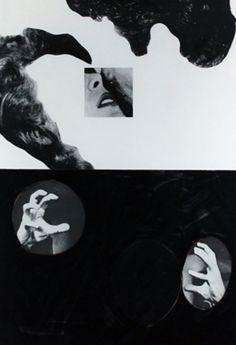 John Baldessari • Kiss, hair, hands, 1986