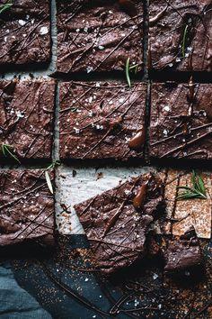 Spiced Rosemary Sea Salt Brownies (Dairy Free) by theartfuldesperado #Brownies #Rosemary #Sea_Salt