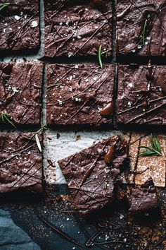 Spiced Rosemary Sea Salt Brownies (Dairy Free)