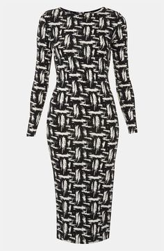 Topshop Scratch Graffiti Midi Dress available at #Nordstrom