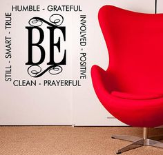 BE vinyl wall decal by itswritteninvinyl on #Etsy