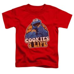 Sesame Street Cookies 4 Life Red Toddler T-Shirt