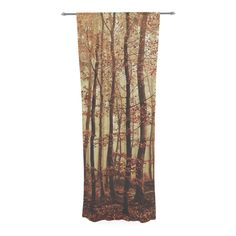 "Iris Lehnhardt ""Autumn Again"" Brown Decorative Sheer Curtain"