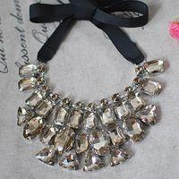 Peter Pan Collar Beaded | ... vintage cutout all-match shirt beaded black necklace peter pan collar