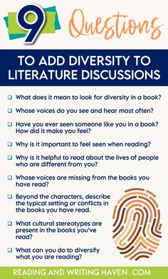 9 Questions that Help Students Analyze Diversity in Literature | Reading and Writing Haven