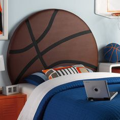 New! Twin Size Basketball Headboard for your child's bedroom