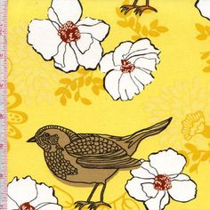 Birds and Blooms by Mitzi Powers for Benartex Fabrics