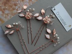 Rose Gold Bridal HeadpieceWedding Hair piece Wedding Hair