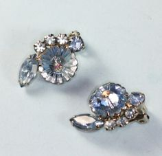 Blue Rhinestone Margarita Stone Juliana D & E Earrings