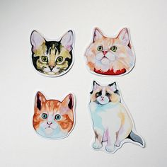 {Little cats stickers} adorable lil kitties
