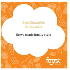 Want more relaxed family mealtimes? Try serving meals family style. So put the food in the middle of the table and let everyone choose what goes on their plates. Also try deconstructing the meal a little serving the pasta separate to the sauce or the salad on a platter untossed. This is more appealing to those who are still learning to eat and enjoy a variety of food. See my last tip on #parentsprovidekidsdecide for more tips! #familymeals #familystyle #eathappy