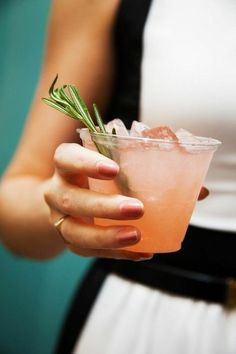 Click through for 15 warm-weather cocktails to celebrate spring! Shown here: the Agave Spritzer with tequila, Lillet, and fresh watermelon. | Lonny.com