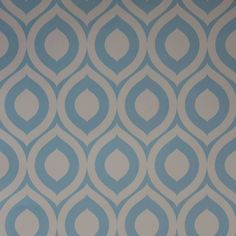 Papel de parede retrô colmeia azul e branco 039