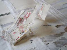 Karen Ruane stitching on paper