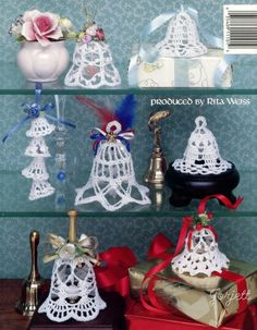 X790 Crochet PATTERN ONLY Beautiful Thread Bells 15 Wedding Christmas