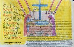 John 1-14 Bible Painting