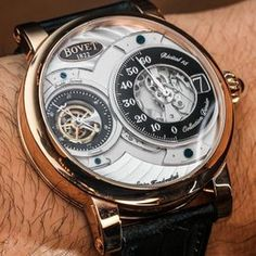 Hands-on look at the 2014 Bovet Recital 15 watch with a retrograde minute and jumping hour indicator, from Bovet's Dimier collection. Amazing Watches, Beautiful Watches, Cool Watches, Watches For Men, Nixon Watches, Elegant Watches, Stylish Watches, Luxury Watches, Bulova