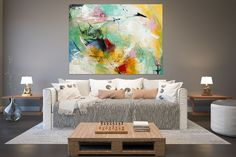 Large Painting on Canvas,Original Painting on Canvas,canvas wall art,painting wall art,oil abstract canvas,texture wall art FY0029