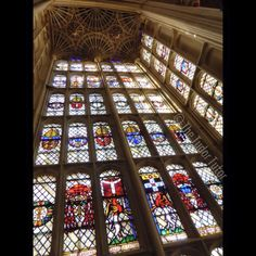 The 50-foot oriel window in the Great Hall at Hampton Court Palace. Just stunning, and a bit intimidating to stand beneath, I must admit!