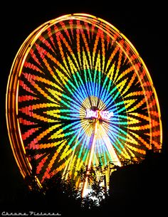 Rainbow Lights 2 by AljoschaThielen on DeviantArt Rainbow Light, Over The Rainbow, Rainbow Colors, Vibrant Colors, Carnival Lights, Fair Rides, Amusement Park Rides, Carnival Rides, Painted Pony