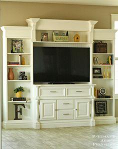 DIY Entertainment Center- www.pneumaticaddict.com