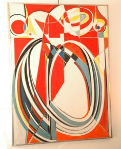 Georges Csato painting Hungary mixed media on canvas. image 2