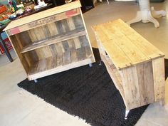wood pallet console
