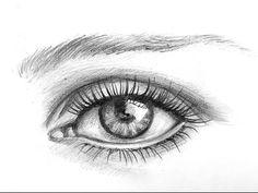 как нарисовать глаз человека